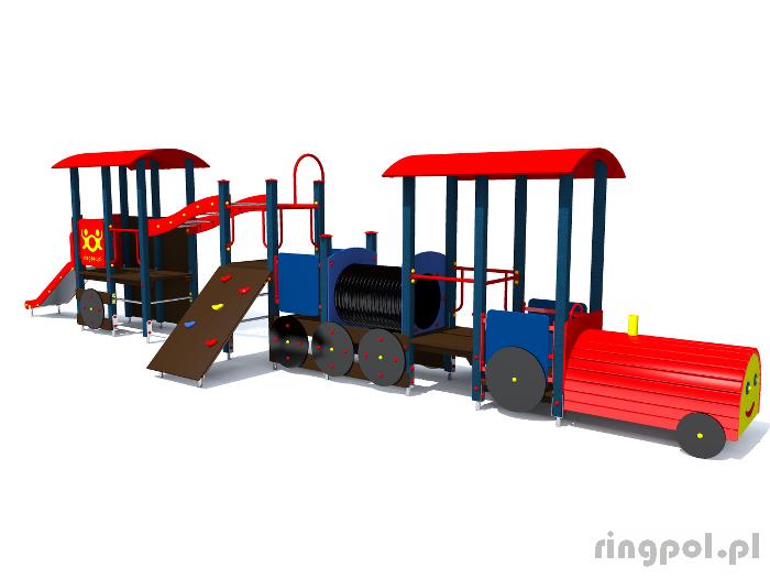 zestaw zabawowy lokomotywa-pociąg z061r -Tematyczne place zabaw