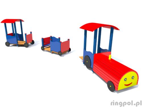 Plac zabaw Lokomotywa-wagony
