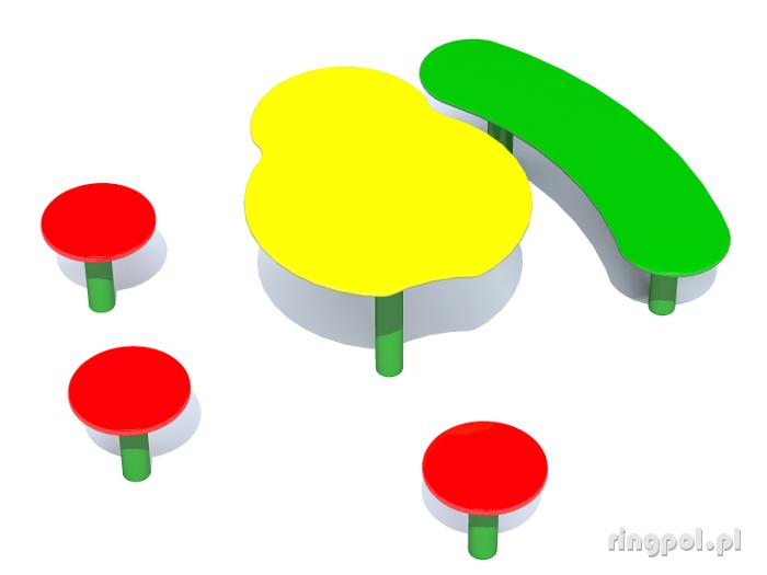 Stoliki z ławeczkami [STE-20]